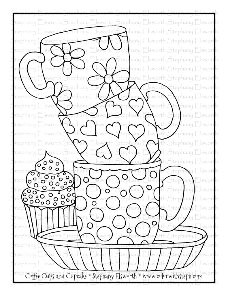 coffee cup coloring pages coffee cups and cupcake free printable coloring page cup coffee pages coloring