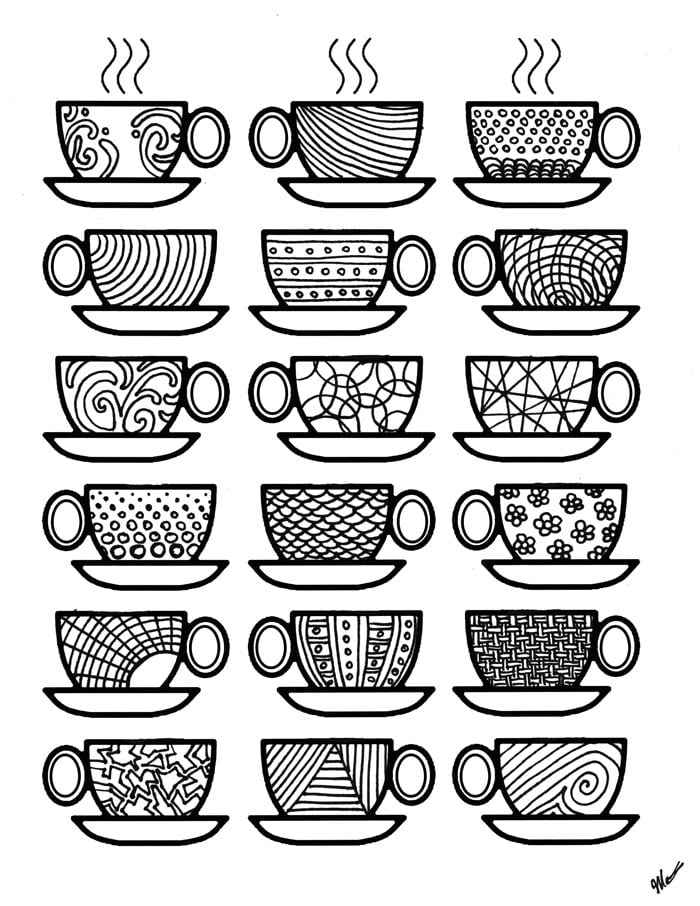 coffee cup coloring pages get the coloring page coffee cups free printable adult cup pages coffee coloring