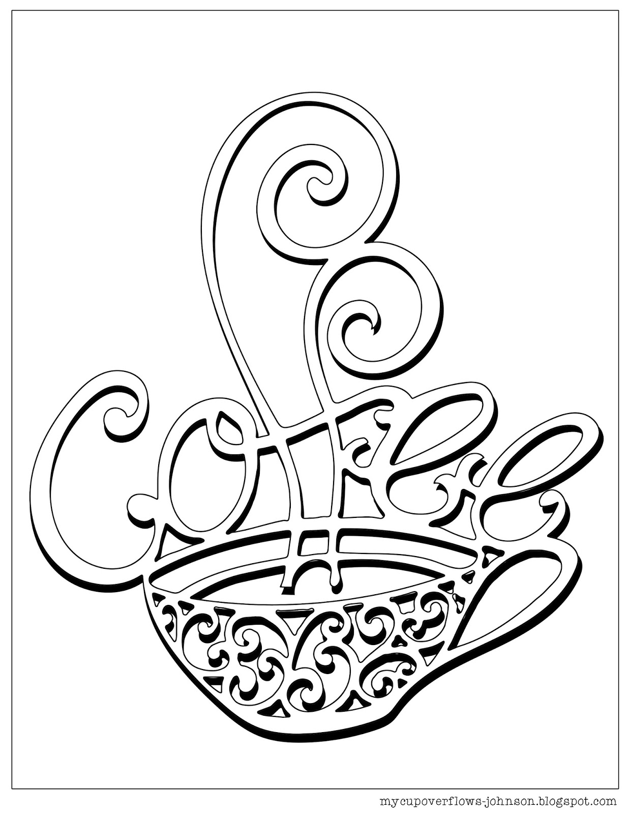 coffee cup coloring pages my cup overflows tea and coffee coloring pages coffee cup