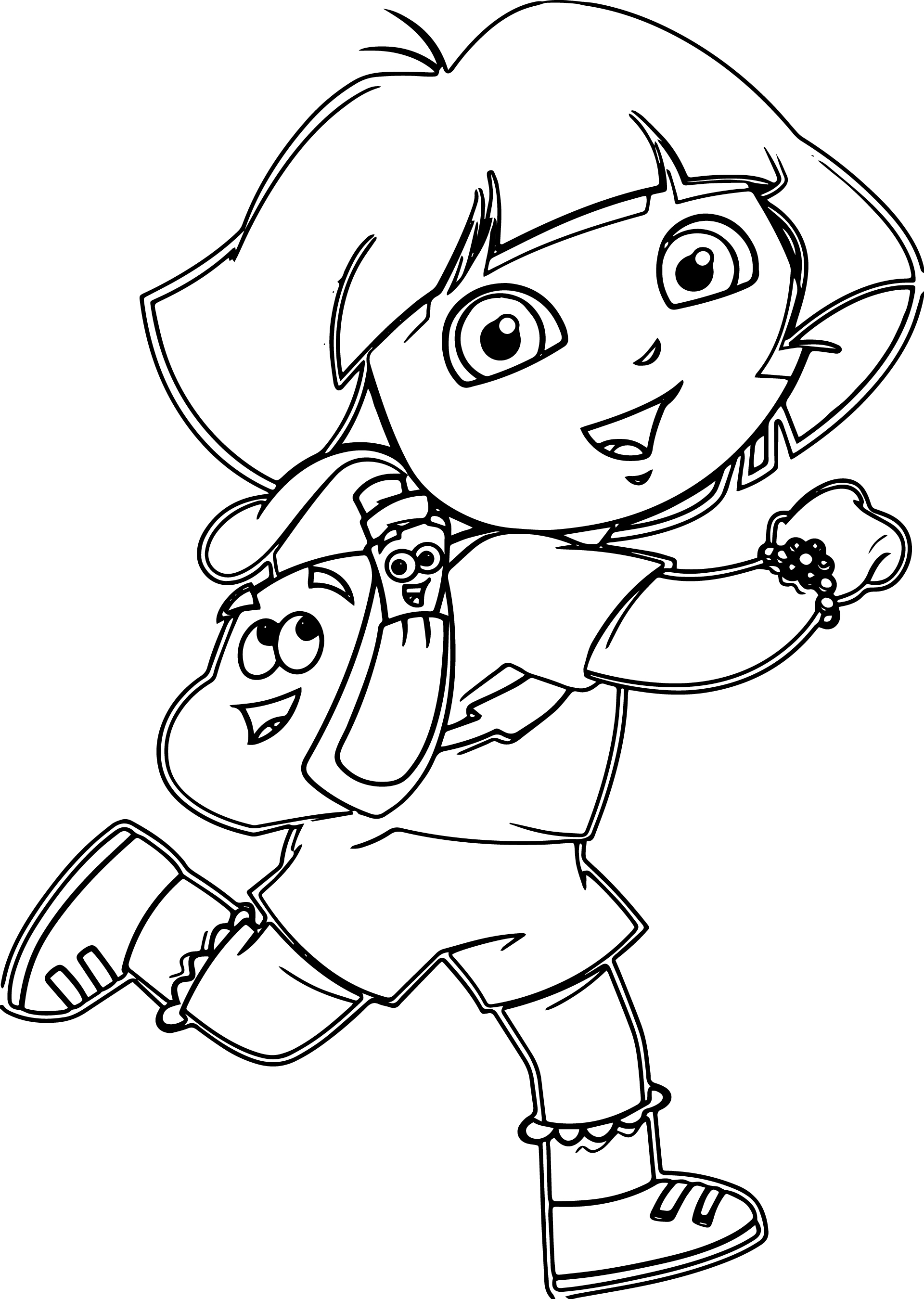 coloring cartoon dora print download dora coloring pages to learn new things coloring dora cartoon