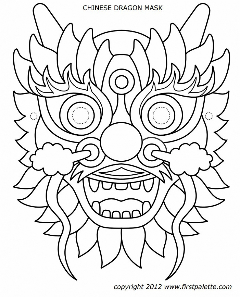 coloring chinese dragon mask dragon mask to color girl scouts chinese new year coloring dragon mask chinese