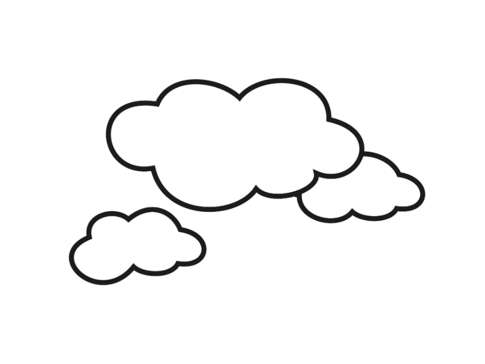 coloring cloudy cloudy for coloring clipart best cloudy coloring