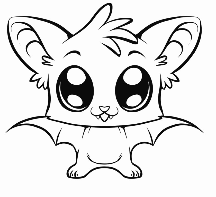 coloring cute cartoon animals big eyed animal coloring pages at getcoloringscom free coloring cartoon animals cute