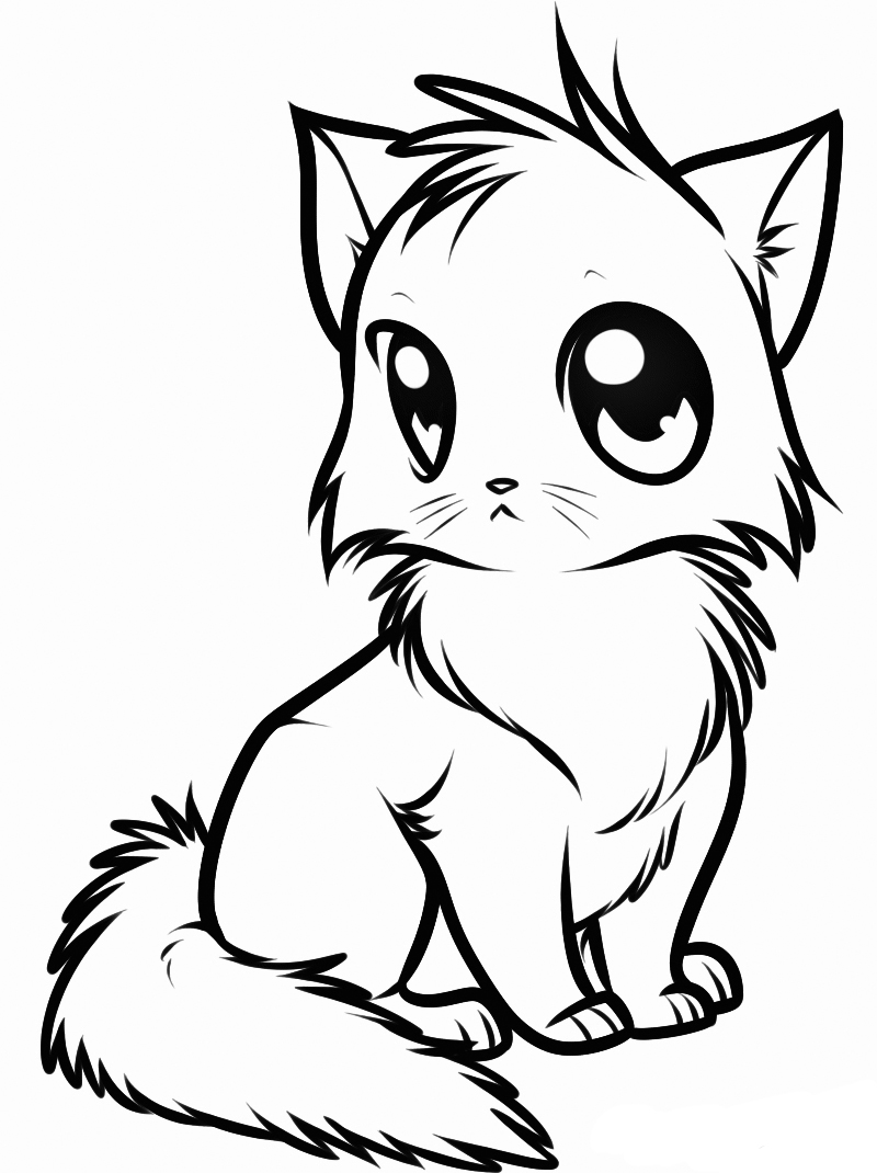 coloring cute kitten kitten coloring pages free download on clipartmag kitten cute coloring