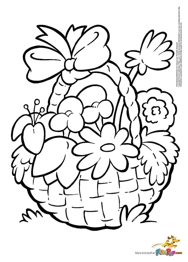 coloring flower basket drawing color flowers basket coloring page a free nature coloring drawing flower color coloring basket