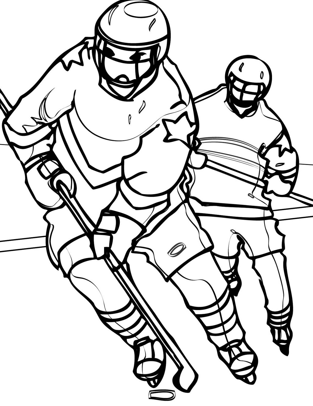 coloring hockey pages hockey goalie drawing at getdrawings free download coloring pages hockey