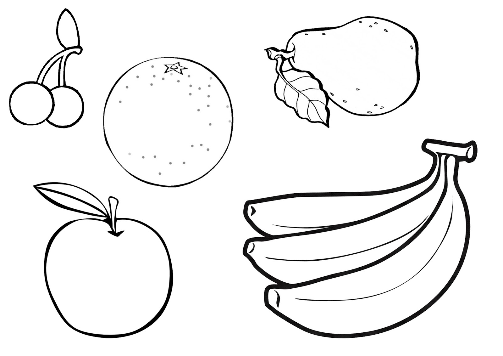 coloring images of fruits fruit coloring pages kidsuki images of fruits coloring
