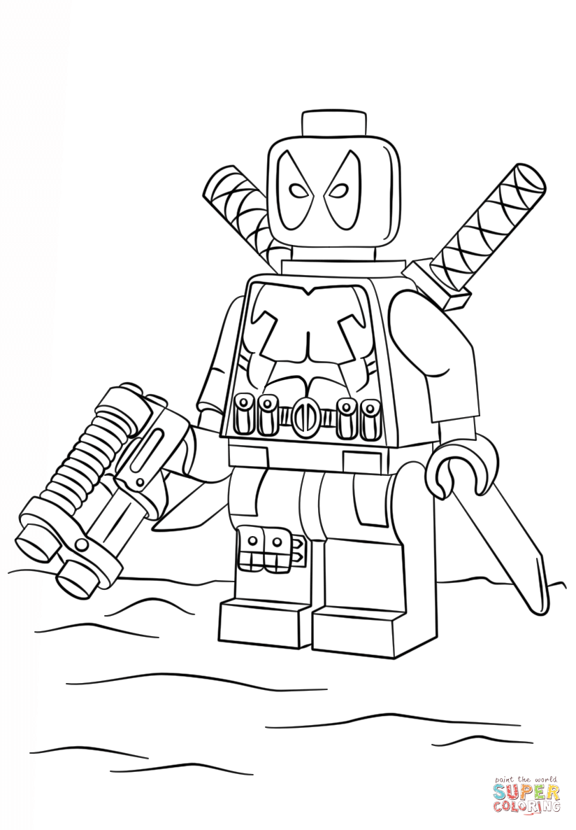 coloring lego deadpool lego deadpool coloring pages black and white free deadpool lego coloring