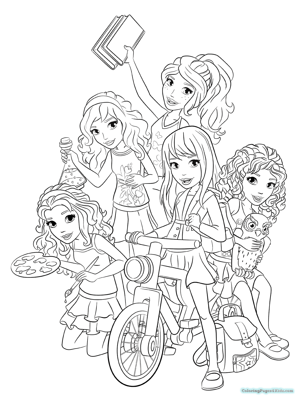 coloring lego friends lego friends all coloring page for kids printable free coloring friends lego