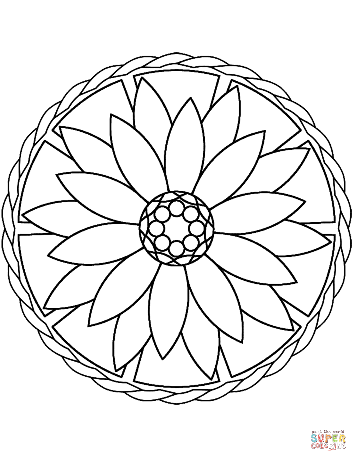 coloring mandala simple colouring books and pages coloring mandala simple