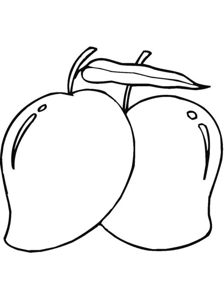 coloring mango outline mango coloring page getcoloringpagescom coloring mango outline