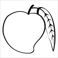 coloring mango outline mango coloring page getcoloringpagescom coloring mango outline 1 1