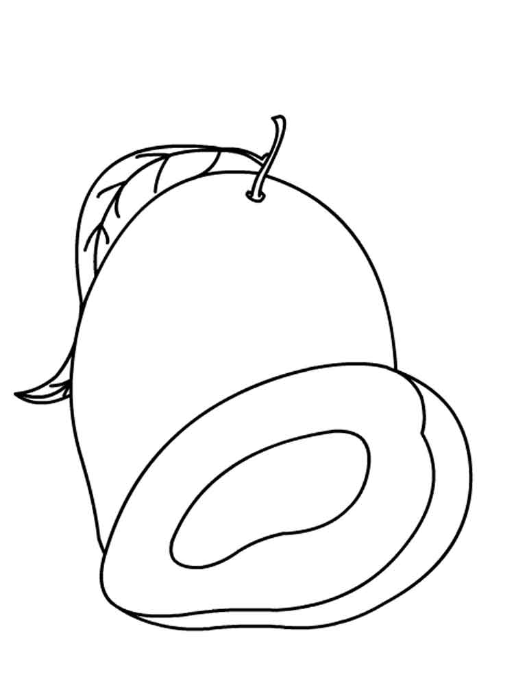 coloring mango outline mango coloring page getcoloringpagescom mango outline coloring