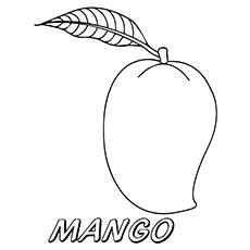 coloring mango outline mango coloring page getcoloringpagescom outline mango coloring