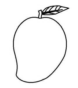 coloring mango outline mango coloring pages coloring mango outline