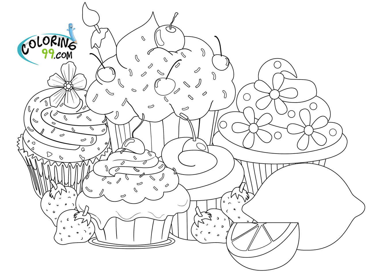 coloring page cupcake cupcake coloring pages team colors coloring cupcake page