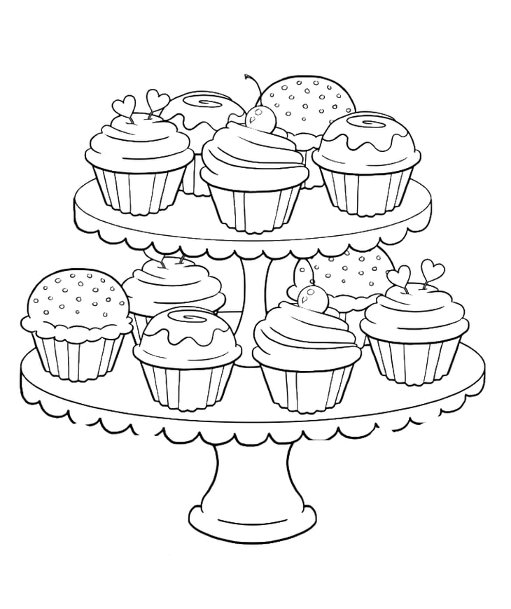 coloring page cupcake get the colouring page cupcakes free printable adult page cupcake coloring