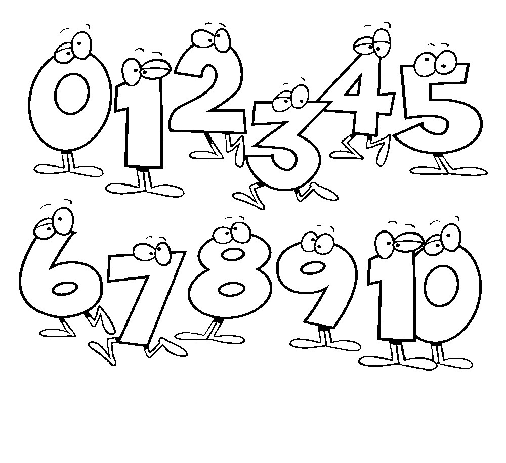 coloring page numbers number coloring pages 10 coloring kids numbers page coloring