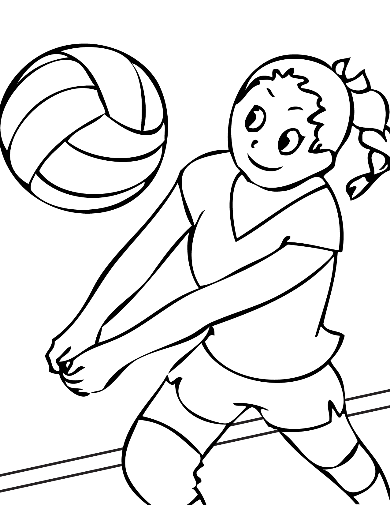 coloring page volleyball volleyball printable free download on clipartmag coloring page volleyball