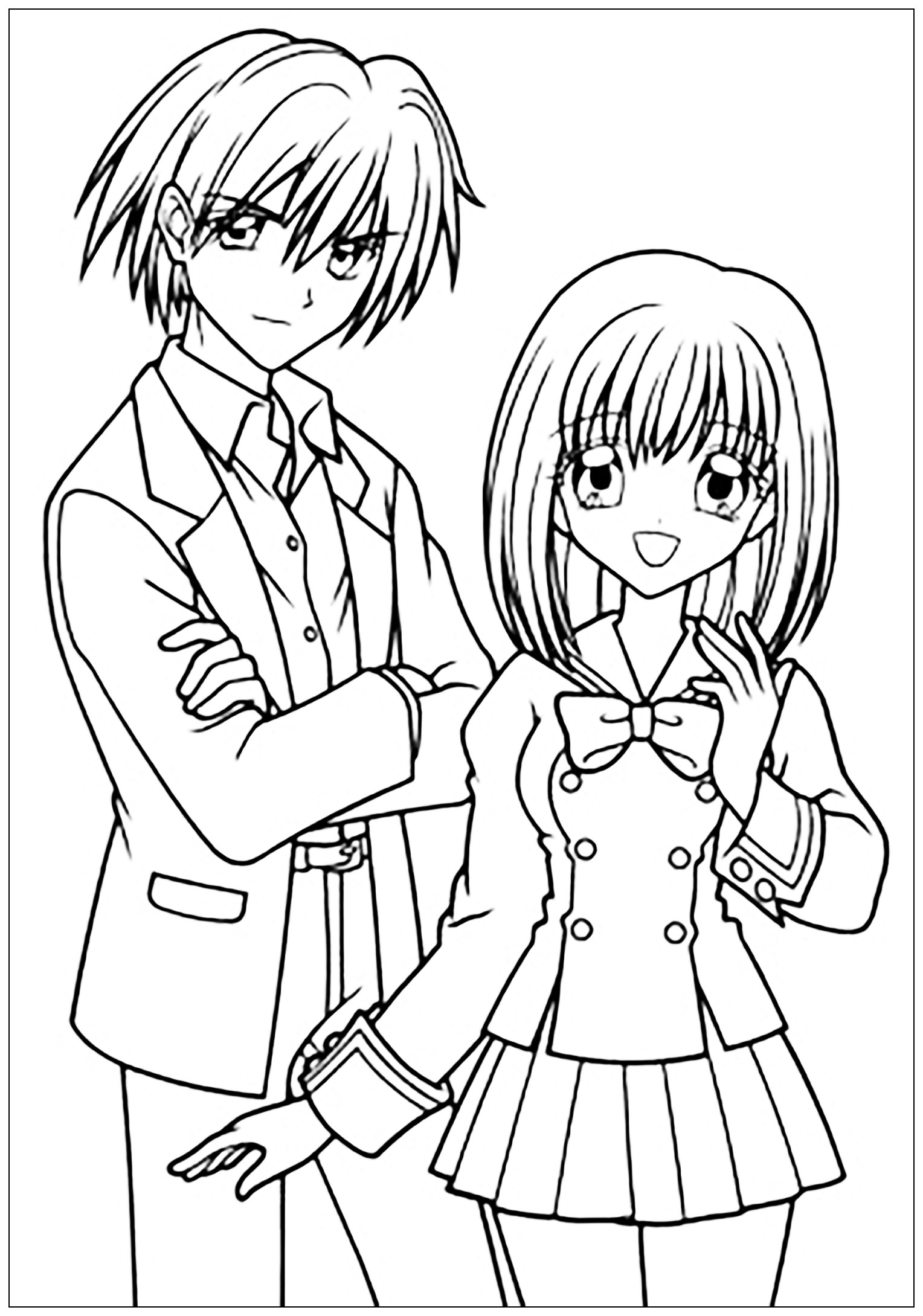 coloring pages anime school girl schoolgirl anime colouring pages tô màu pinterest school coloring pages anime girl