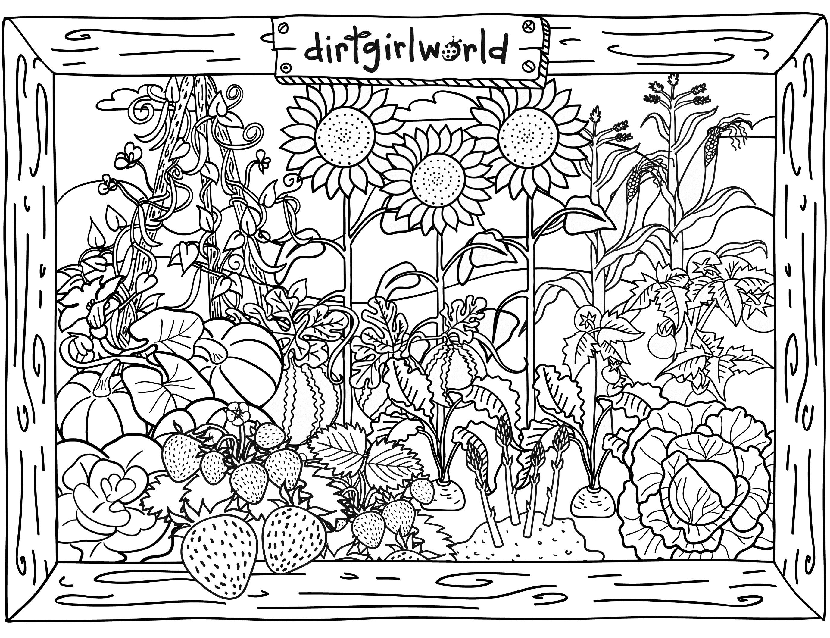 coloring pages garden flower garden coloring pages to download and print for free coloring pages garden
