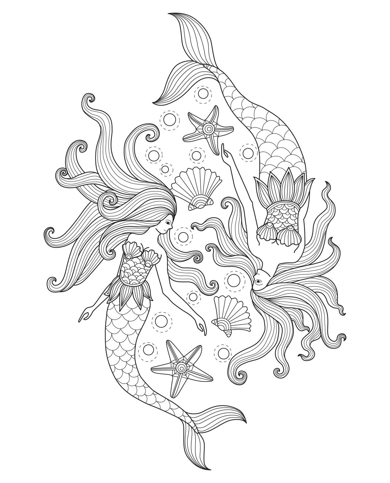 coloring pages mermaid print download  find the suitable little mermaid pages coloring mermaid