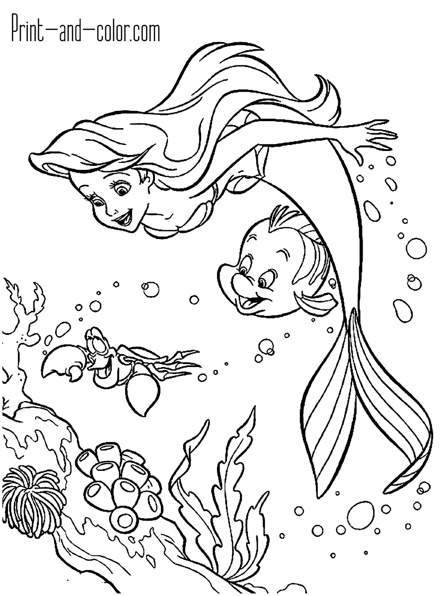 coloring pages mermaid the little mermaid coloring pages print and colorcom mermaid pages coloring