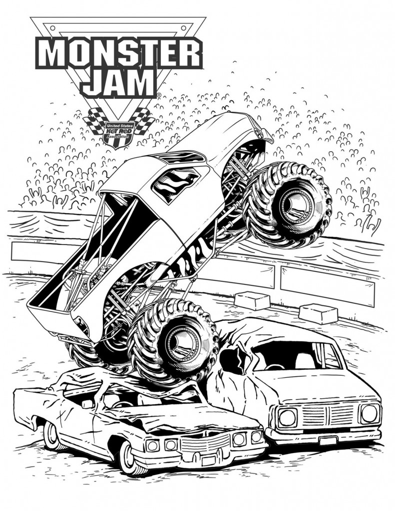 coloring pages monster trucks monster trucks printable coloring pages all for the boys coloring trucks monster pages