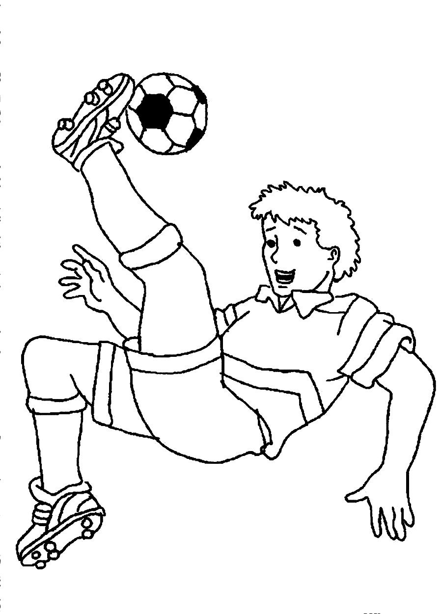coloring pages soccer player soccer player coloring pages to download and print for free coloring soccer pages player