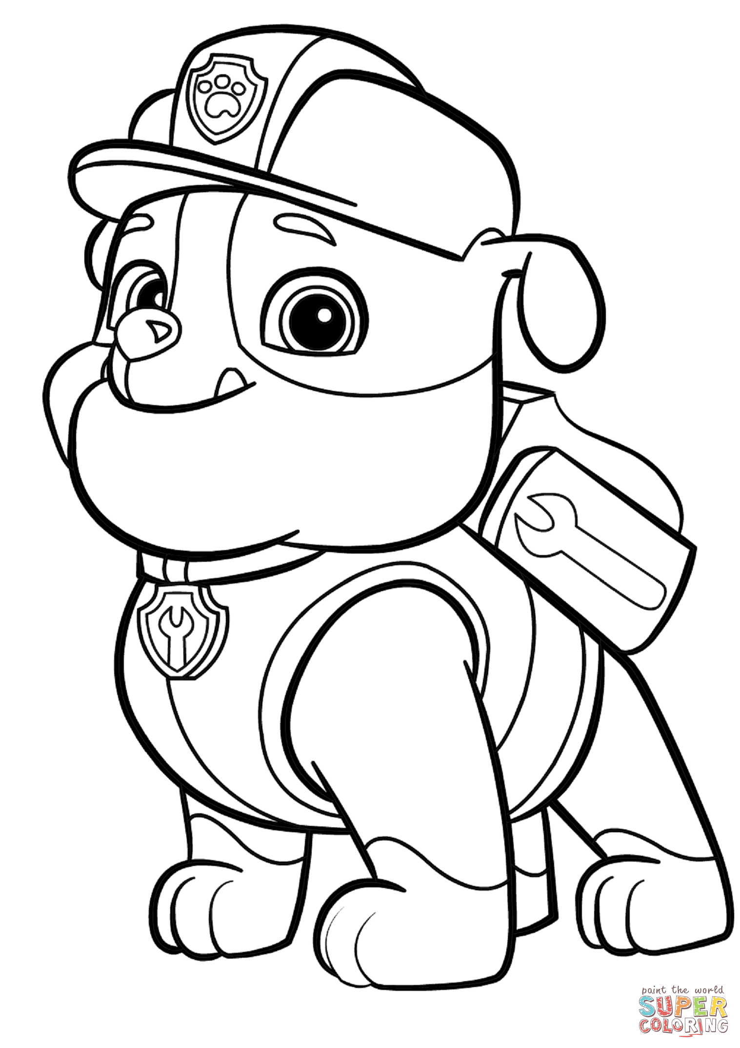 coloring paw patrol rubble paw patrol rubble coloring page free coloring pages online patrol paw rubble coloring