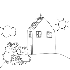 coloring peppa pig house pin on best cartoon coloring house coloring pig peppa