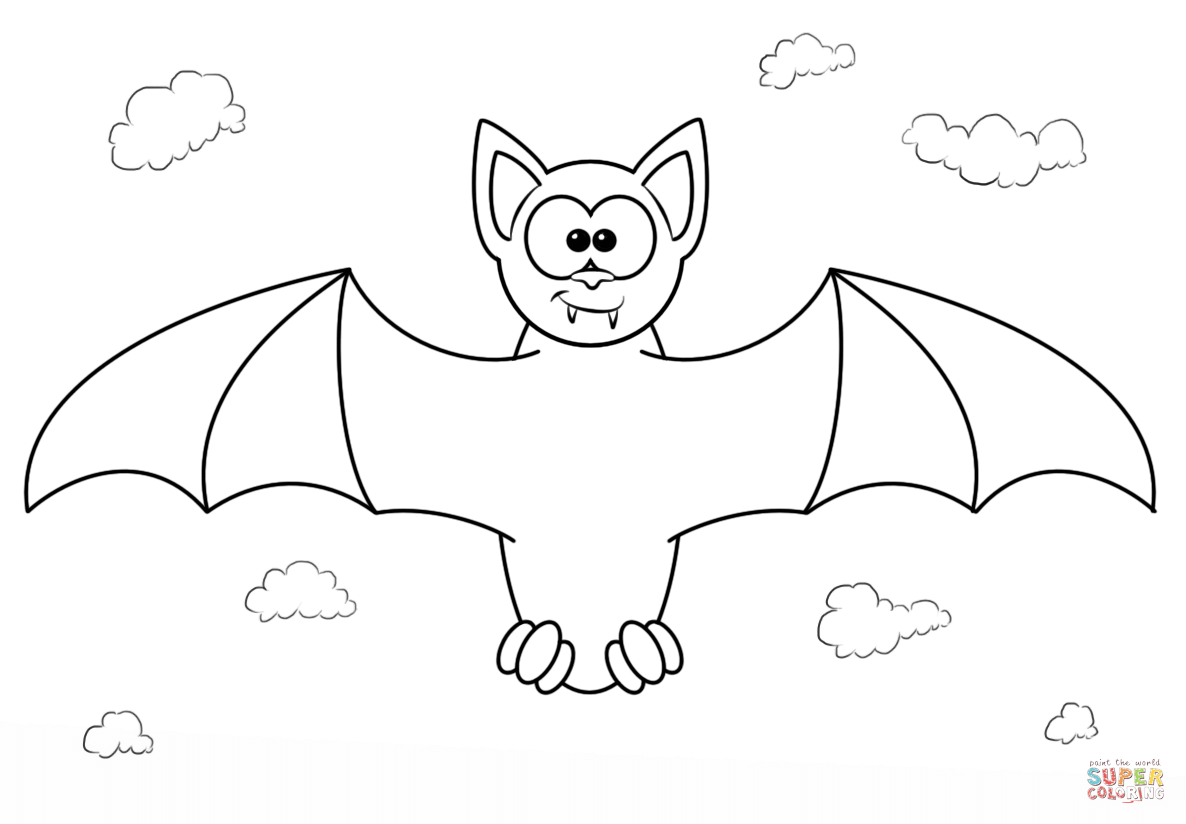 coloring picture bat 5 best images of printable pictures of vampire bats coloring picture bat