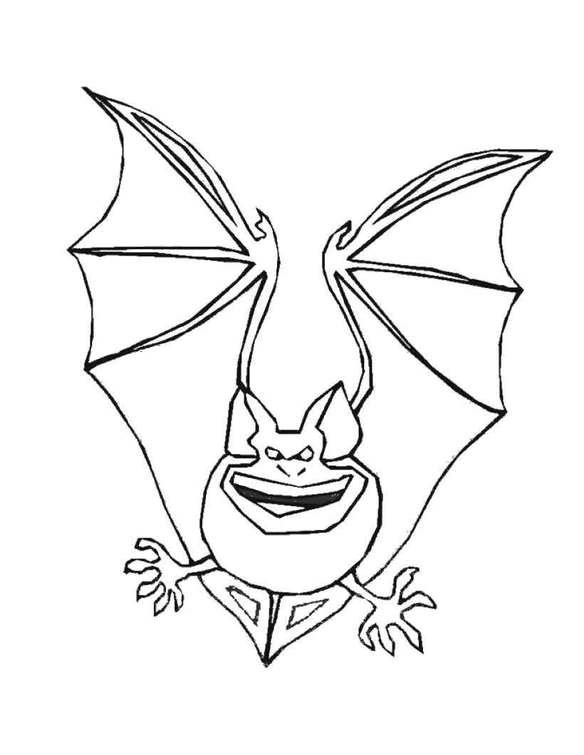coloring picture bat bat drawing outline at getdrawings free download bat coloring picture
