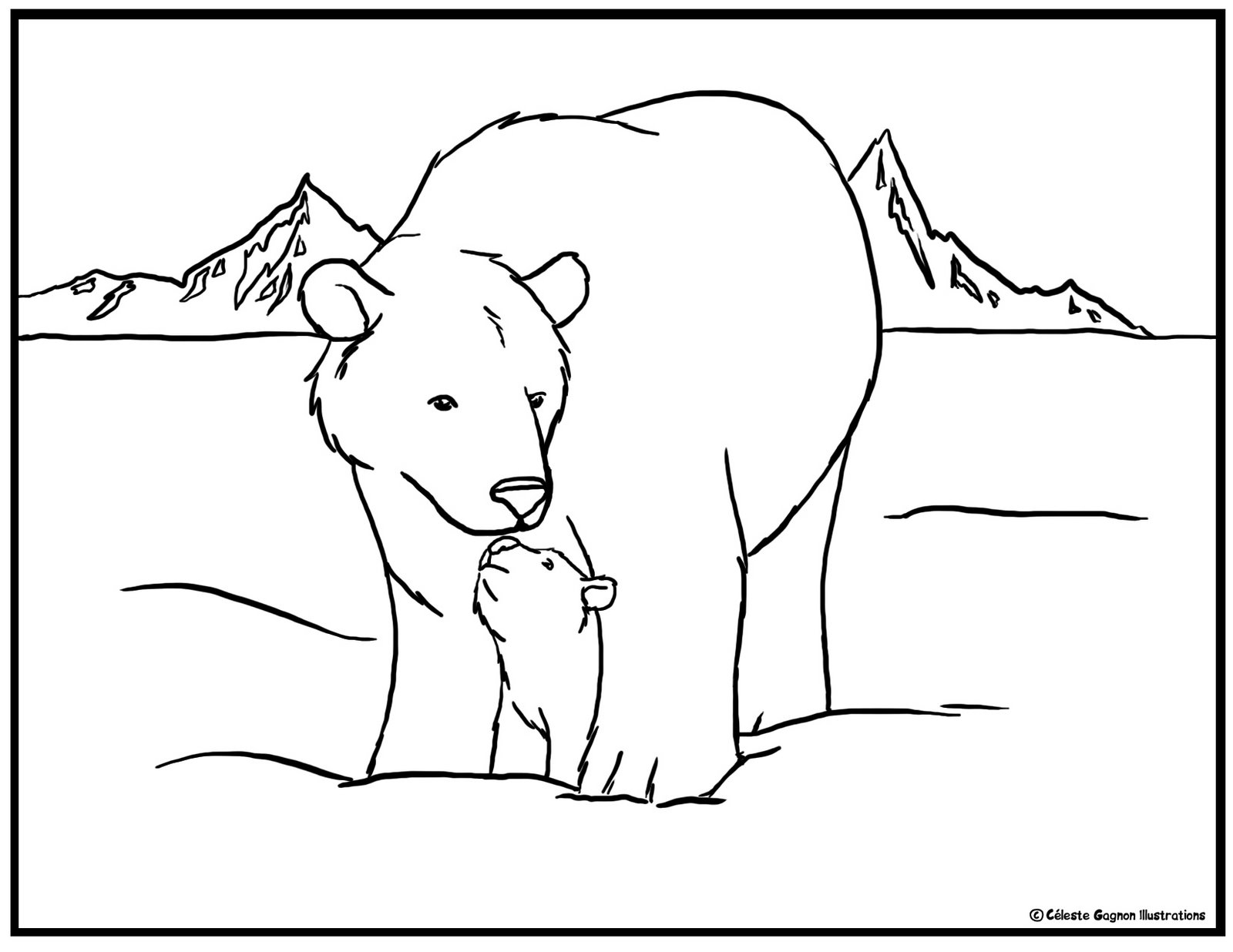 coloring picture bear bear coloring page getcoloringpagescom coloring bear picture