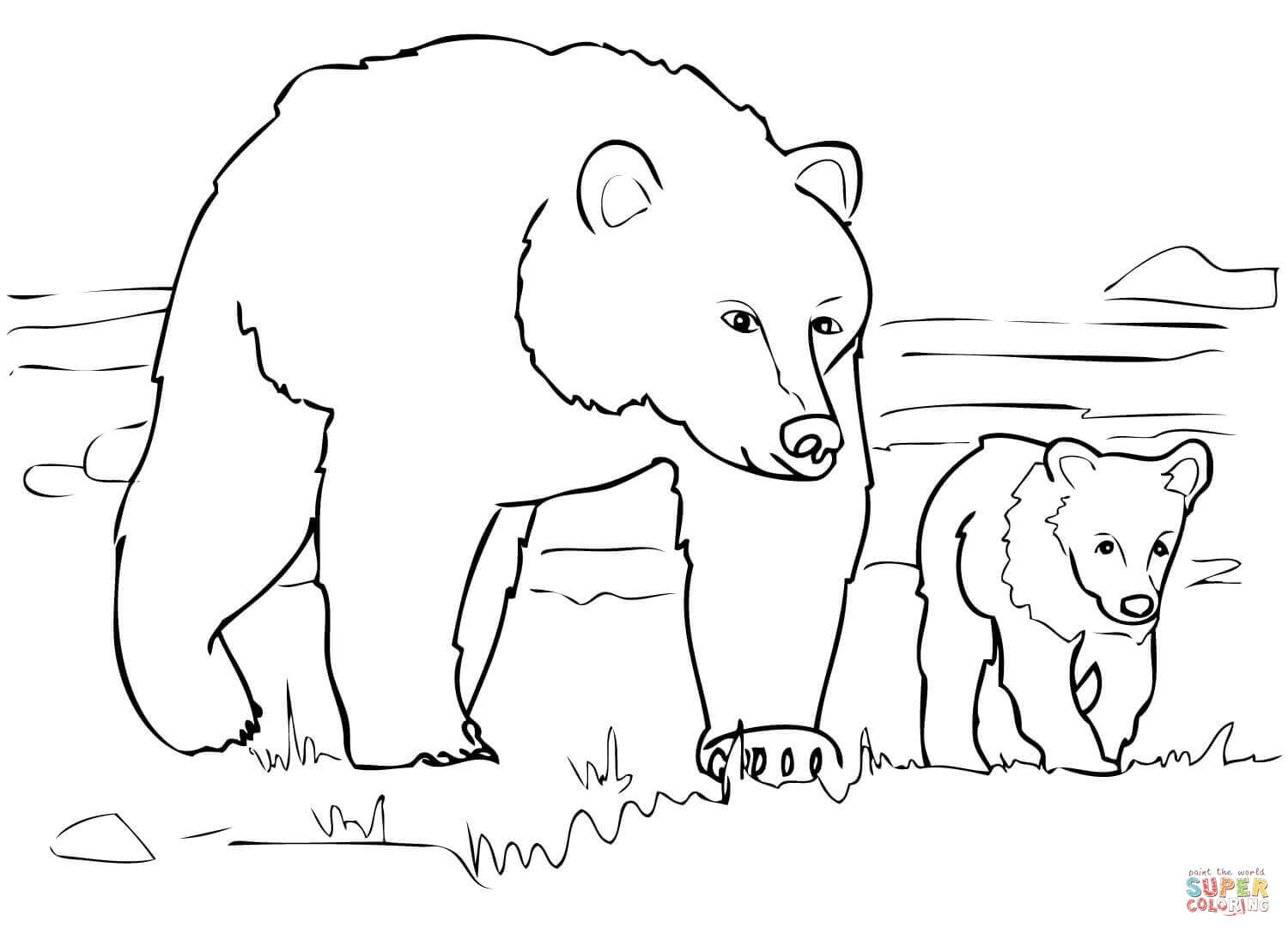 coloring picture bear free printable bear coloring pages for kids picture bear coloring