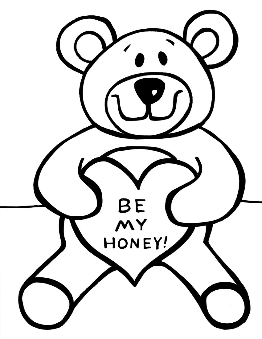 coloring picture bear printable teddy bear coloring pages for kids cool2bkids coloring picture bear