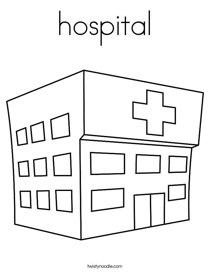 coloring picture hospital any images hospital coloring page wecoloringpagecom coloring hospital picture