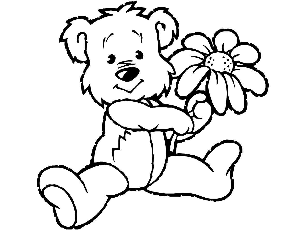 coloring picture of a bear printable teddy bear coloring pages for kids a of coloring bear picture