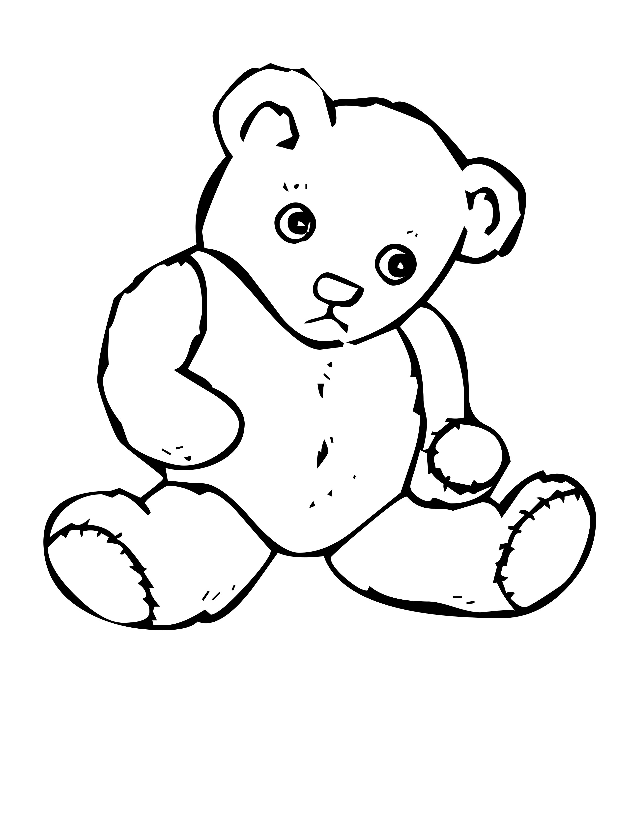 coloring picture of a bear teddy bears free colouring pages a picture of bear coloring