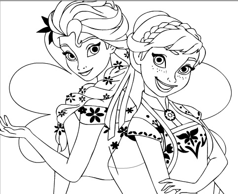 coloring pictures elsa and anna elsa and anna coloring frozen games coloring and pictures anna elsa