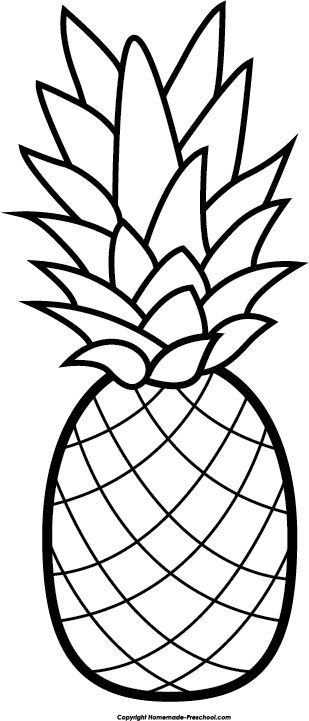 coloring pineapple clipart black and white clipart panda free clipart images and clipart pineapple black coloring white