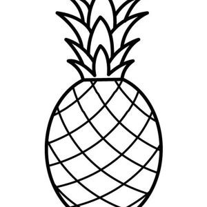 coloring pineapple clipart black and white line drawing of pineapple simple line vector stock pineapple coloring white black clipart and