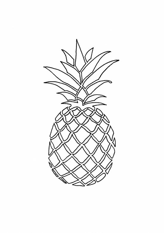 coloring pineapple clipart black and white pineapple coloring pages getcoloringpagescom clipart and white coloring black pineapple