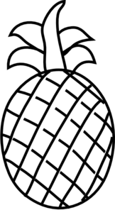 coloring pineapple clipart black and white pineapple outline clip art at clkercom vector clip art black white clipart pineapple coloring and