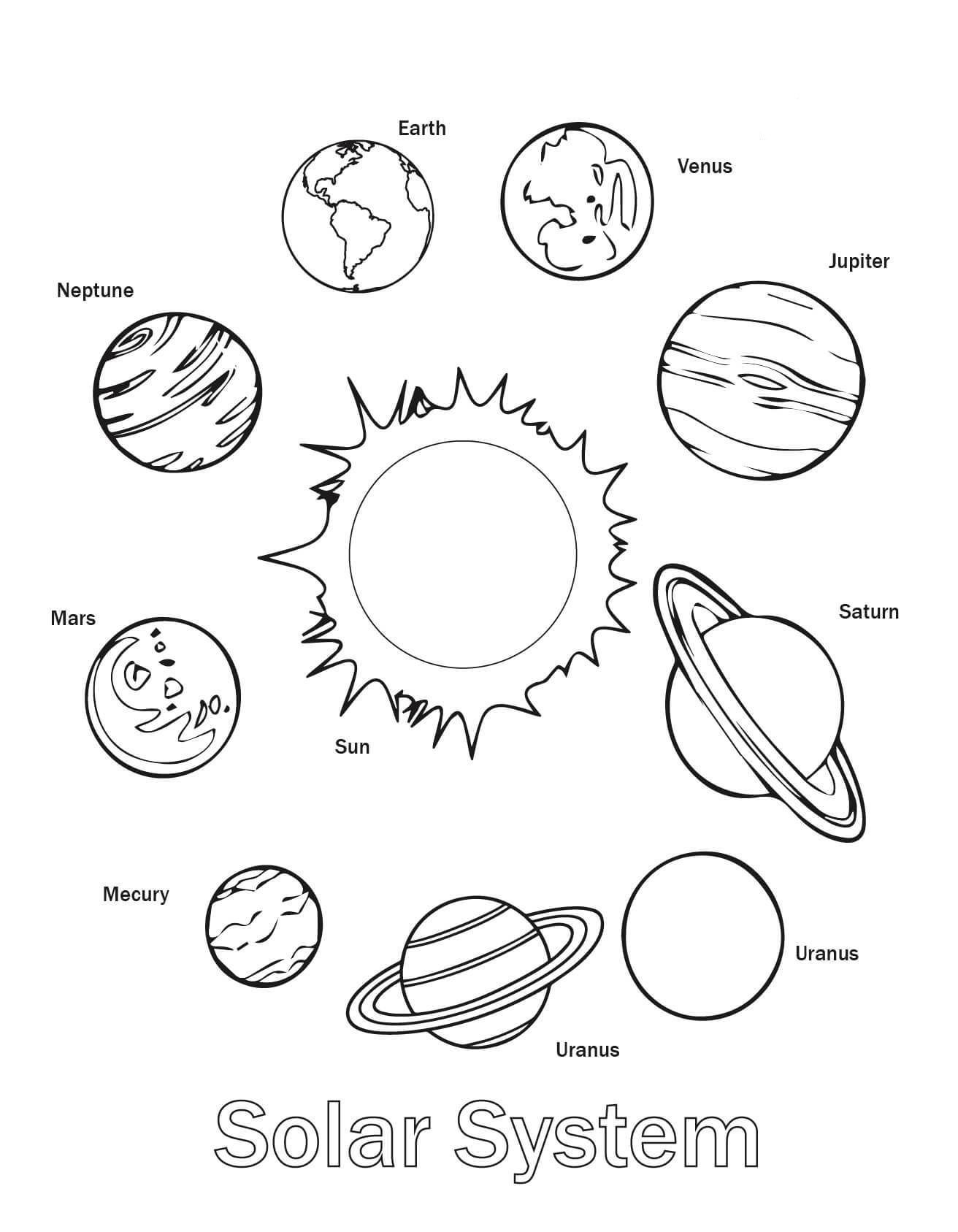 coloring planets worksheets printable planet coloring pages for kids coloring planets worksheets