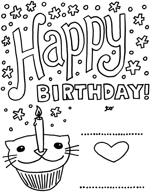 coloring printable birthday cards free coloring pages birthday card for boy coloring home cards birthday coloring free printable
