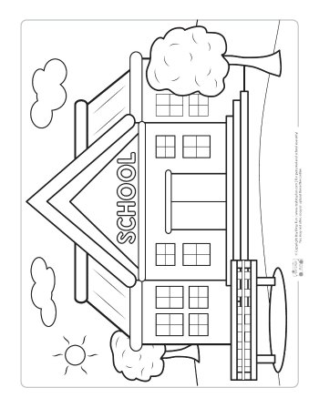 coloring school for kids back to school coloring pages for kids itsybitsyfuncom coloring school kids for