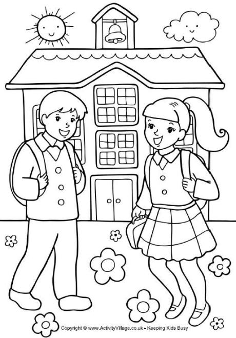 coloring school for kids child at school coloring page coloring home school kids coloring for
