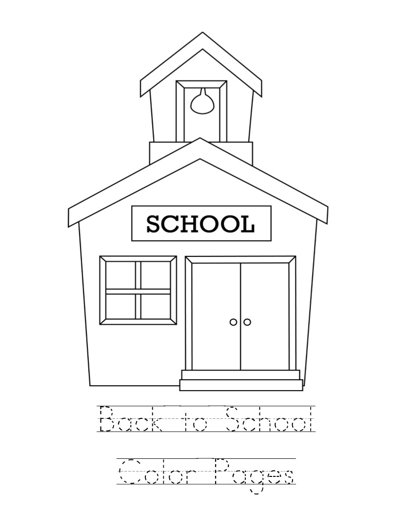 coloring school for kids kid color pages back to school theme kids for coloring school