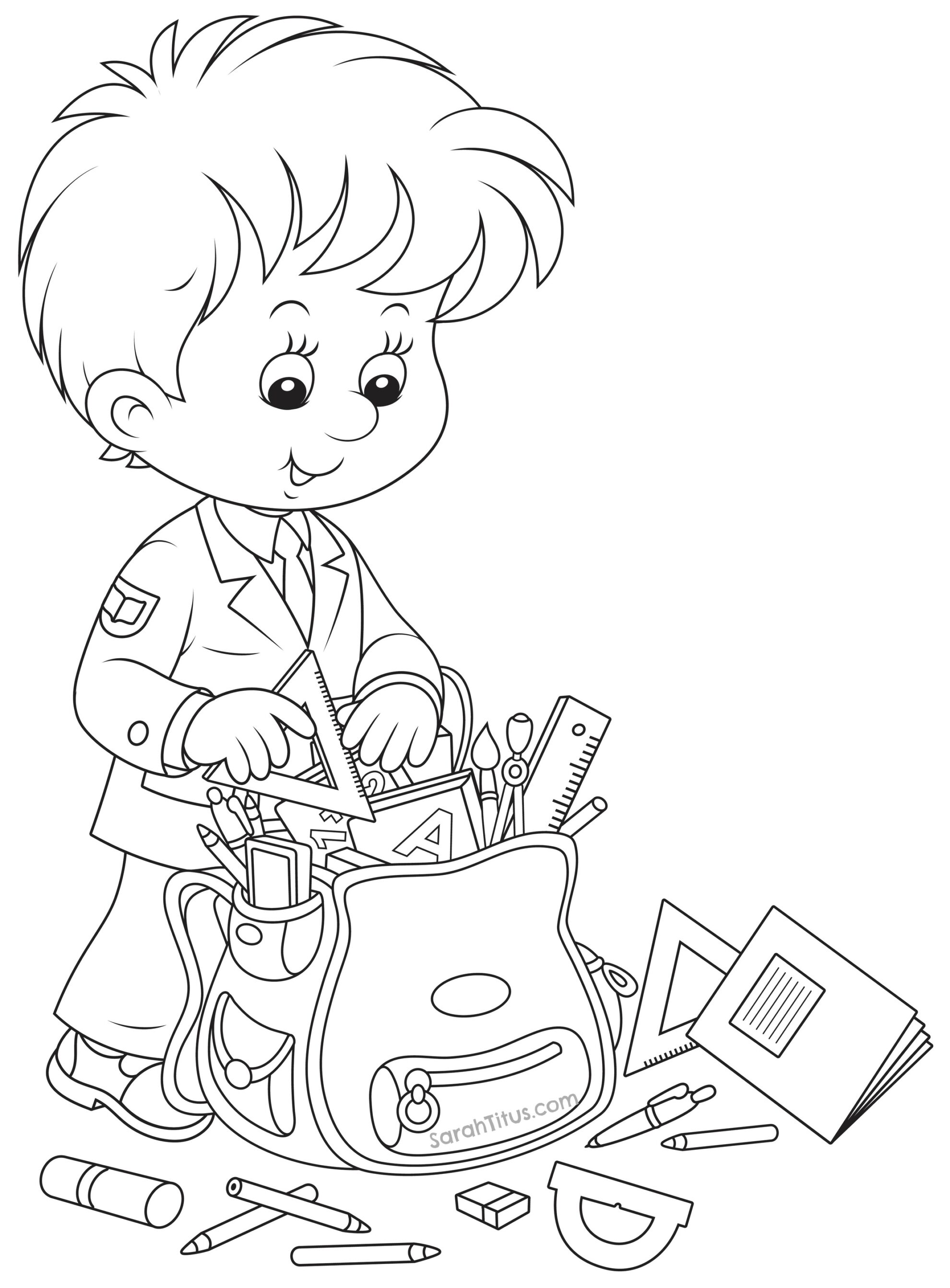 coloring school for kids school coloring pages to download and print for free school kids coloring for
